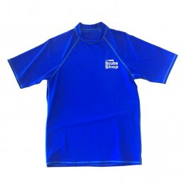 Rash Guard- Scuba Shop T-Shirt- Men- Blue
