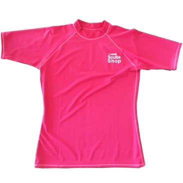 Rash Guard- Scuba Shop T-Shirt- Ladies- Pink